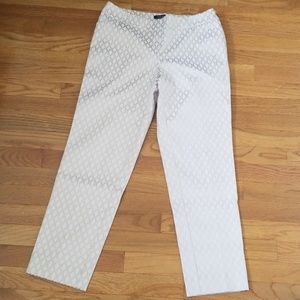 White House Black Market Ivory/Gold Sz 6R Pants